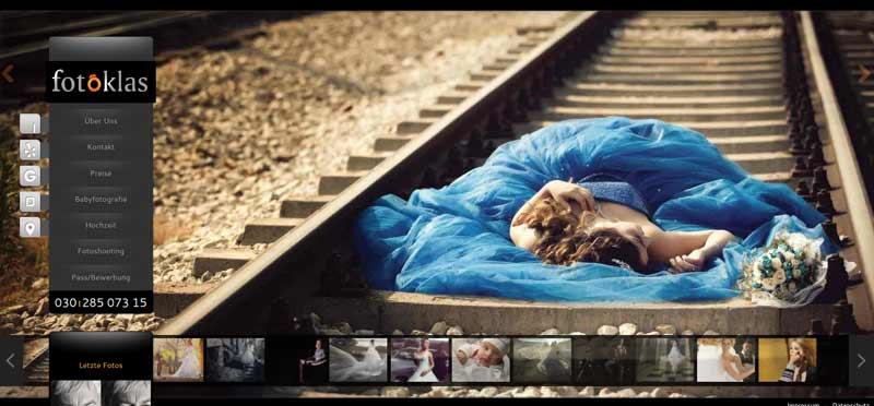 Fotografen-Portfolio-Webseite