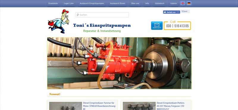 Webdesign-Einspritzpumpen