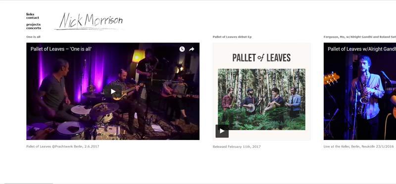 Webseite-Musiker