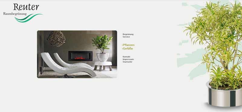 Webseite Pflanzen