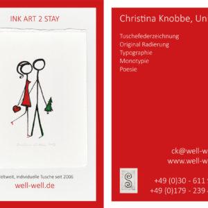 Visitenkarte Künstlerin